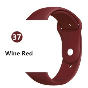 NEW[BAND] Wine Red Sport Silicone For Apple Watch